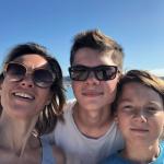 Sandra, Mathis et Gabriel à Lisbonne